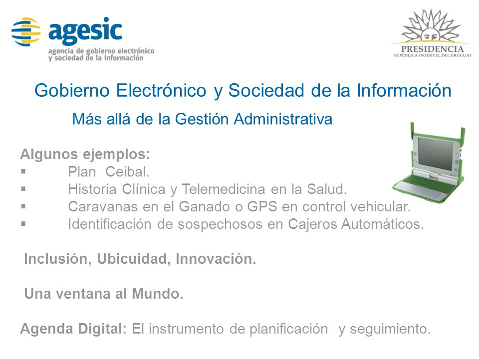 Gobierno Electrónico y Sociedad de la Información