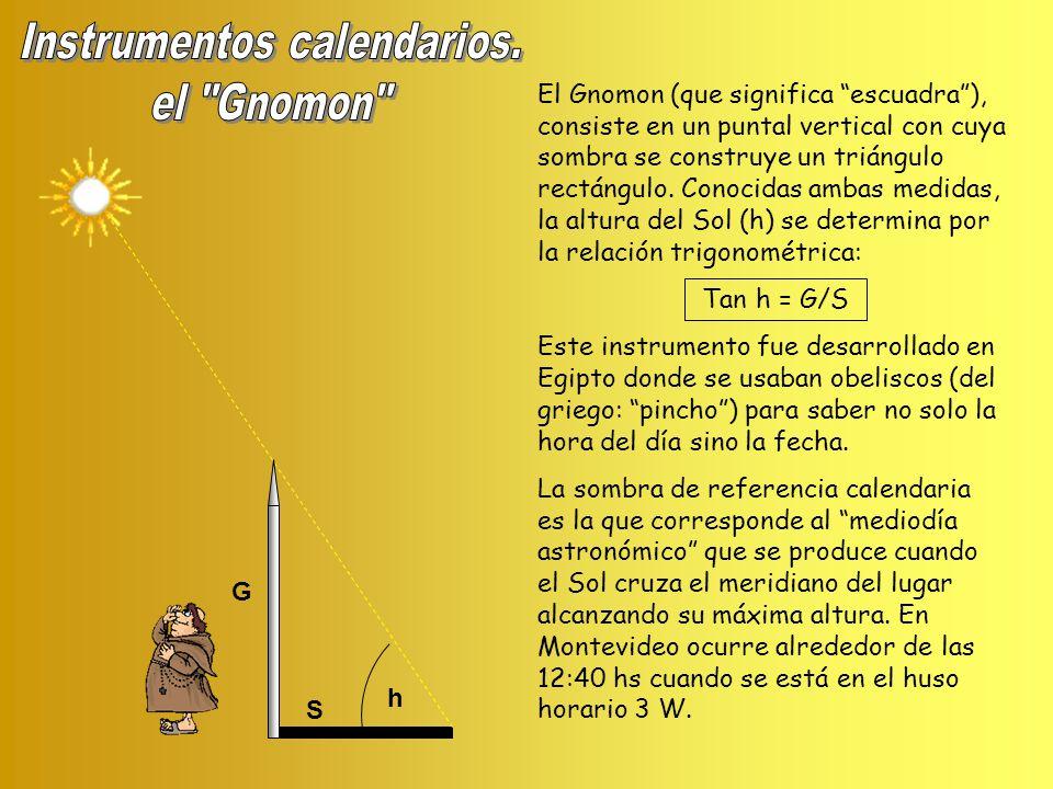 Instrumentos calendarios.