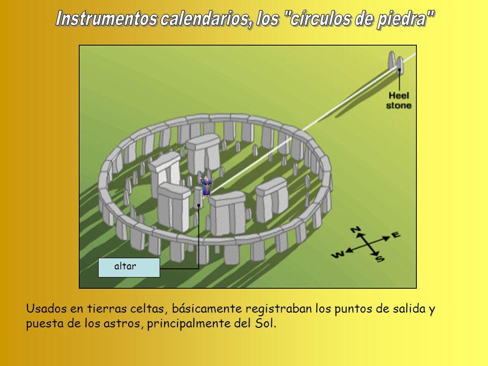 Instrumentos calendarios, los círculos de piedra