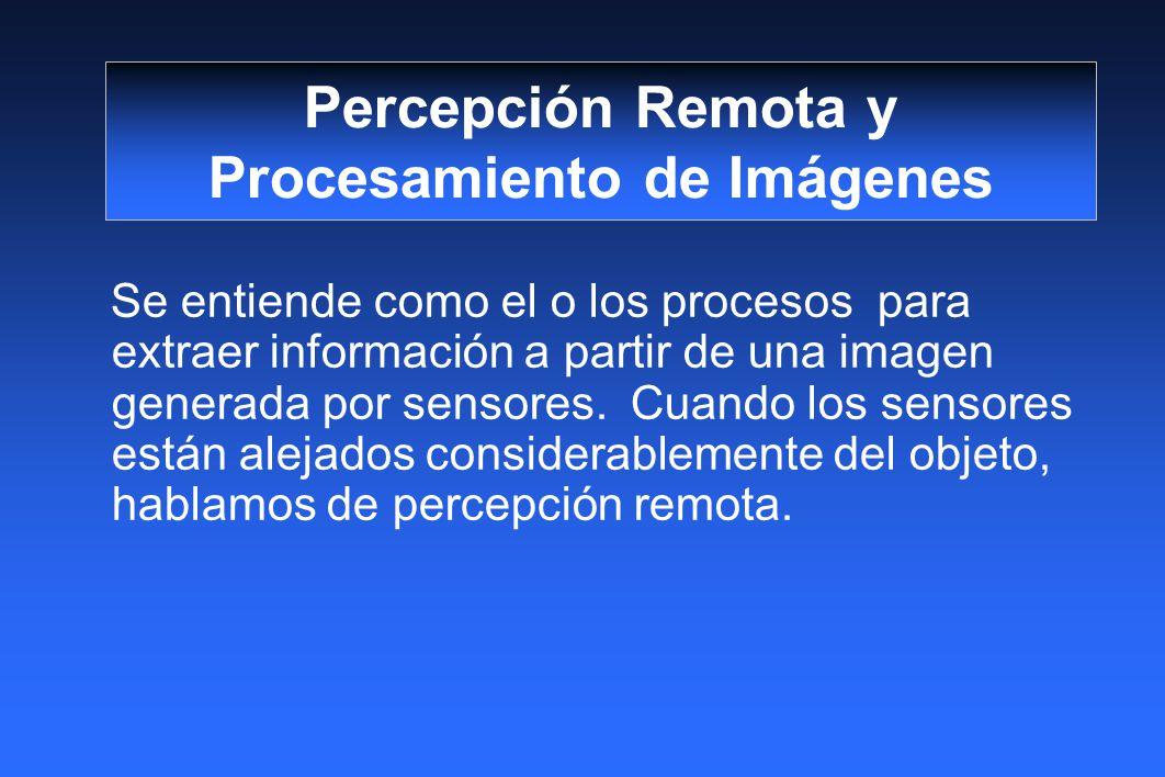 Percepción Remota y Procesamiento de Imágenes
