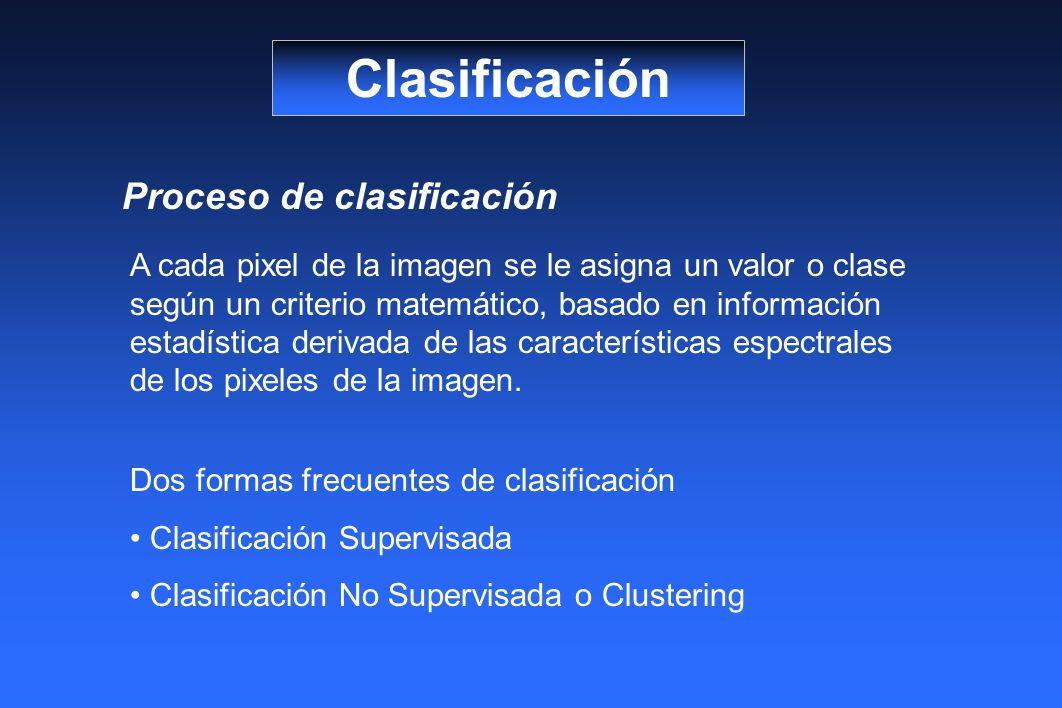 Clasificación Proceso de clasificación