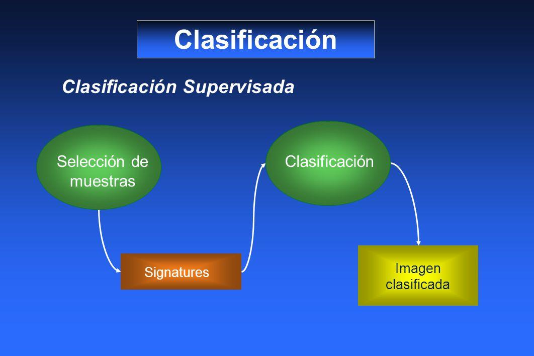 Clasificación Clasificación Supervisada Clasificación