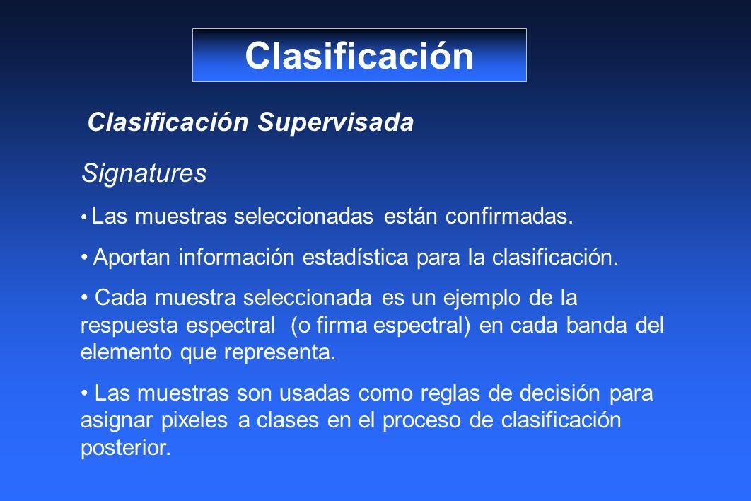 Clasificación Clasificación Supervisada Signatures