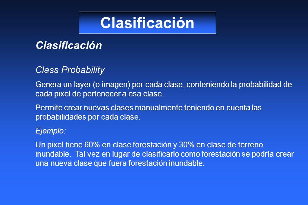 Clasificación Clasificación Class Probability