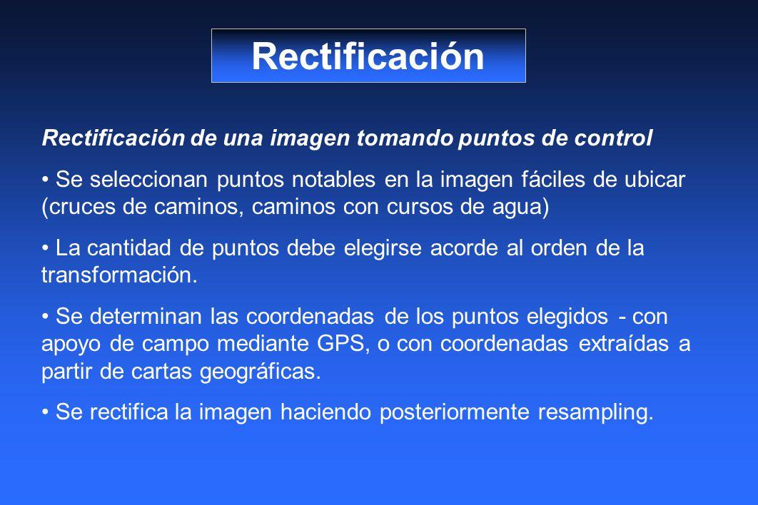 Rectificación Rectificación de una imagen tomando puntos de control