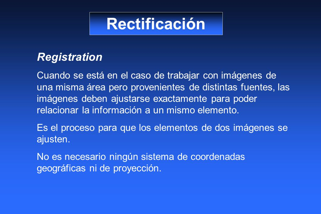 Rectificación Registration