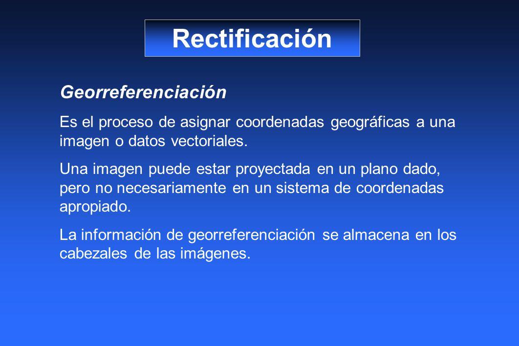 Rectificación Georreferenciación