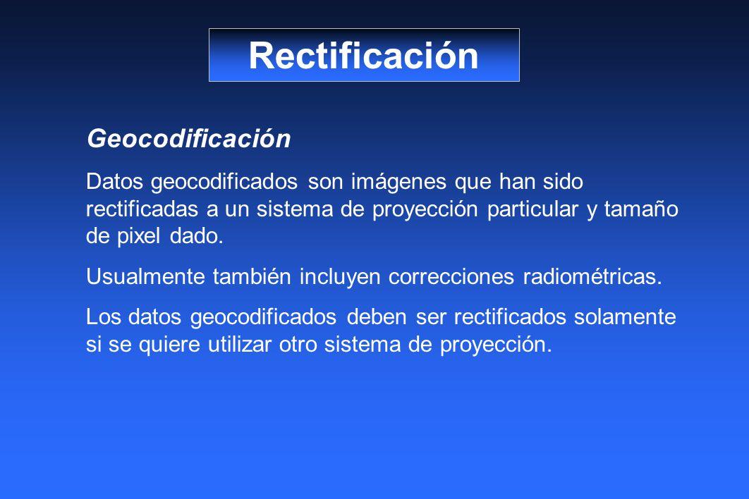 Rectificación Geocodificación