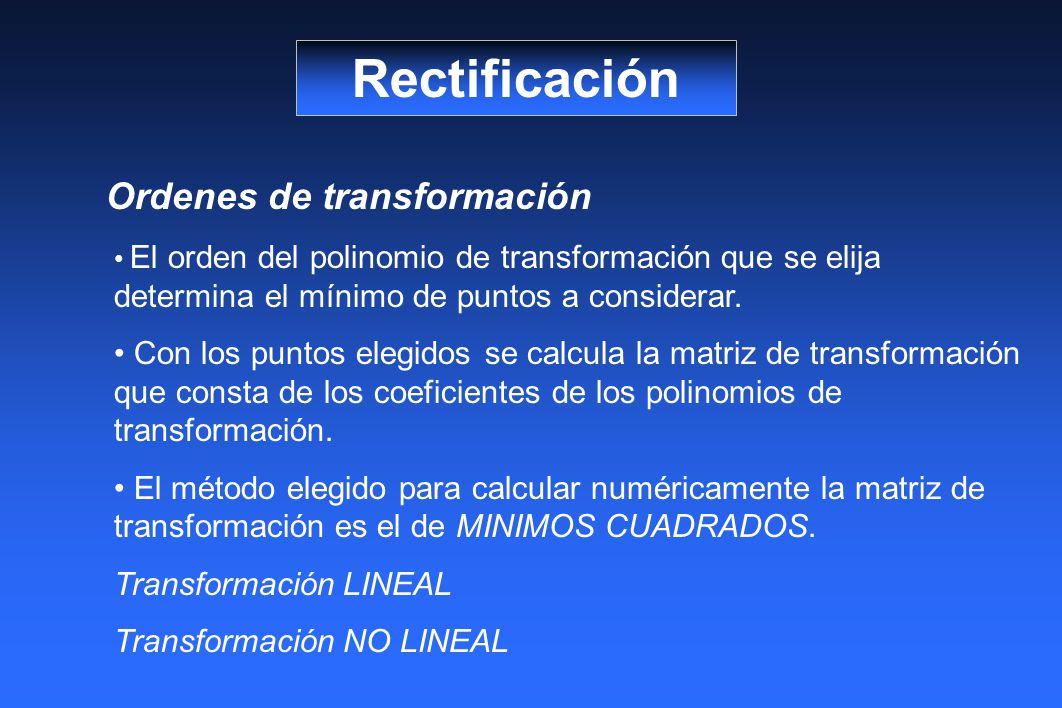 Rectificación Ordenes de transformación