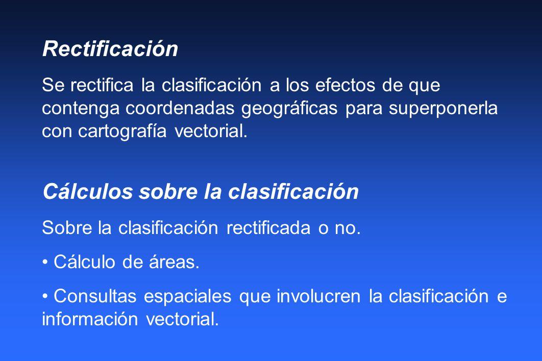 Cálculos sobre la clasificación