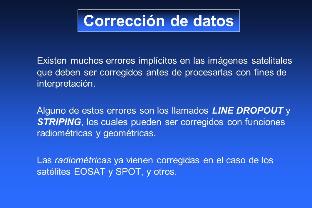 Corrección de datos