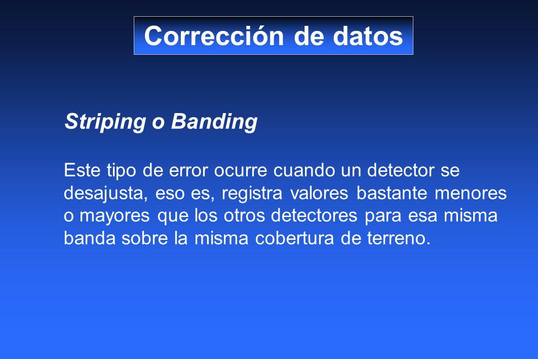 Corrección de datos Striping o Banding