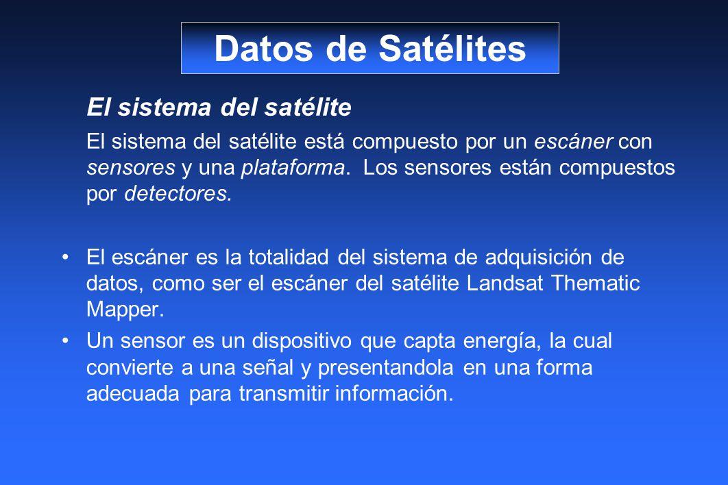 Datos de Satélites El sistema del satélite