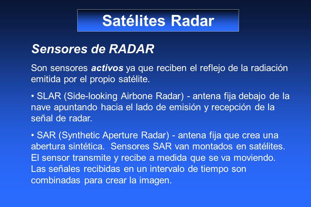 Satélites Radar Sensores de RADAR