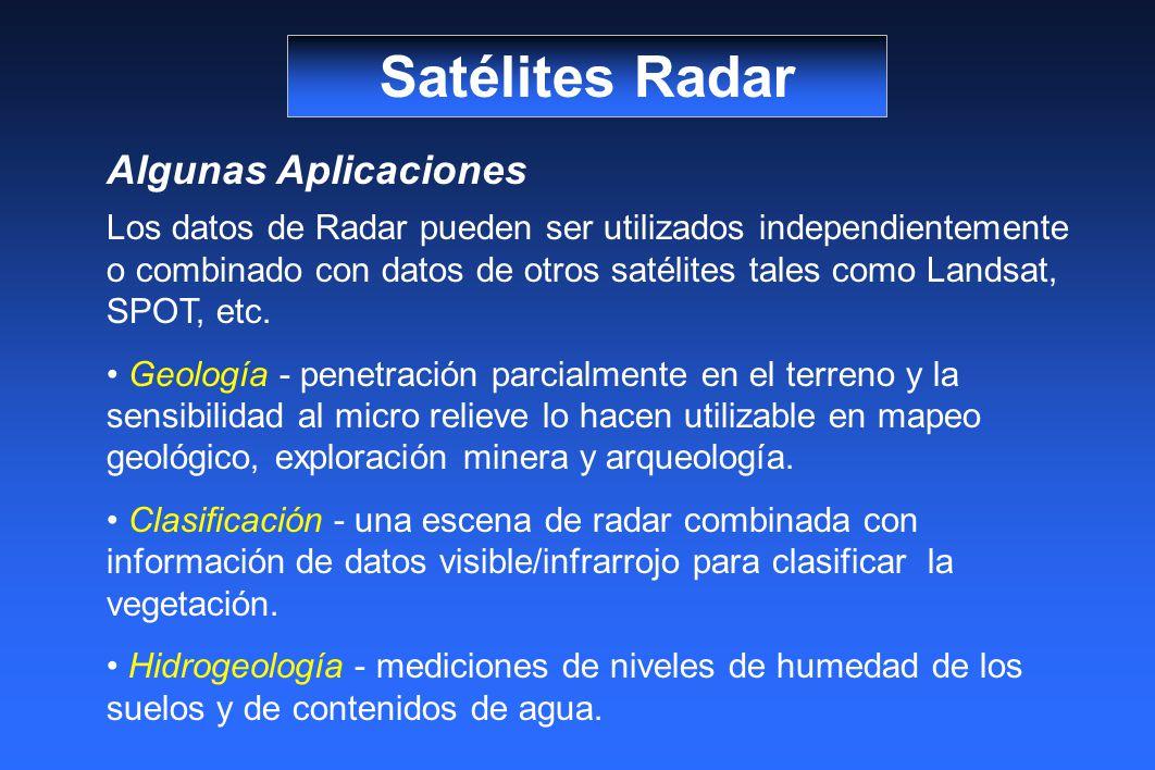 Satélites Radar Algunas Aplicaciones