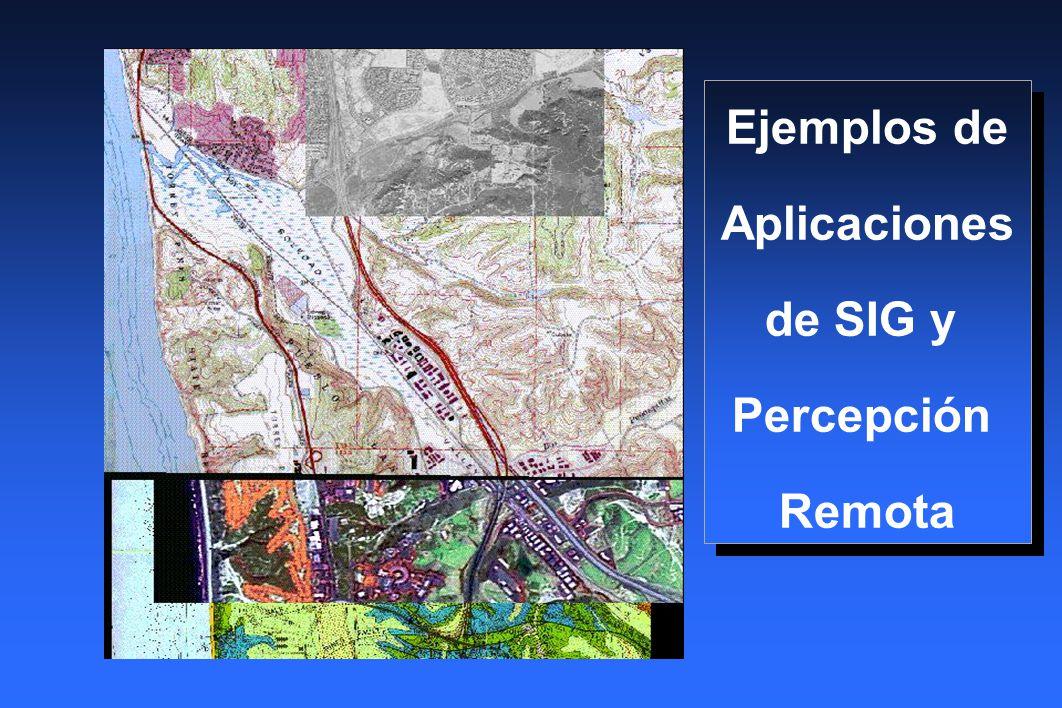 Ejemplos de Aplicaciones de SIG y Percepción Remota