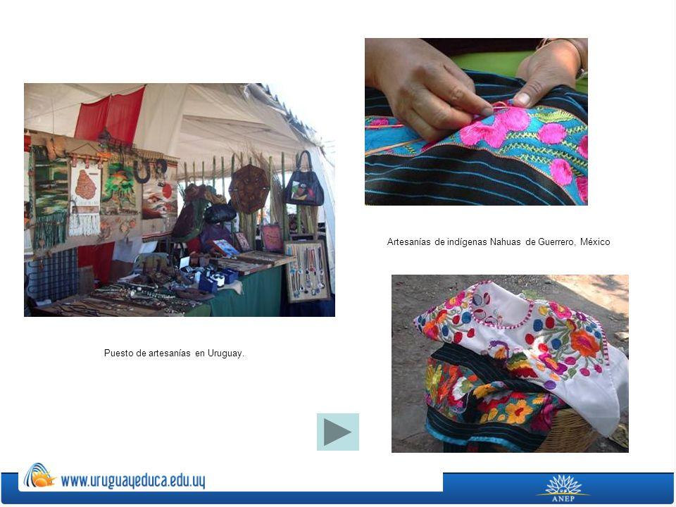 Artesanías de indígenas Nahuas de Guerrero, México