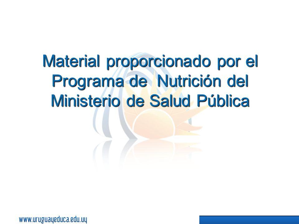 Material proporcionado por el Programa de Nutrición del Ministerio de Salud Pública