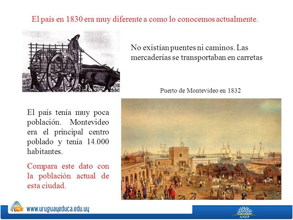 Puerto de Montevideo en 1832