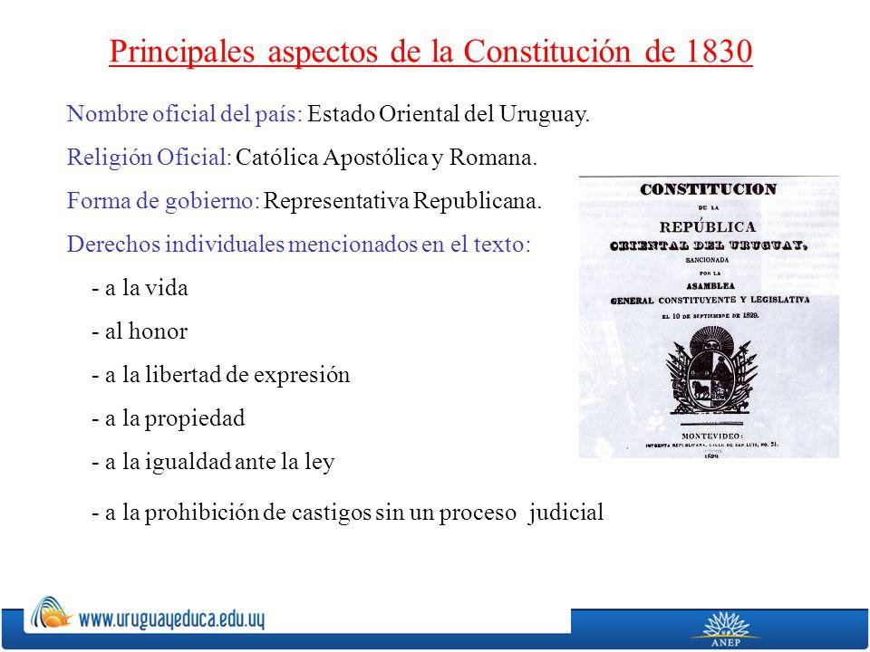 Principales aspectos de la Constitución de 1830