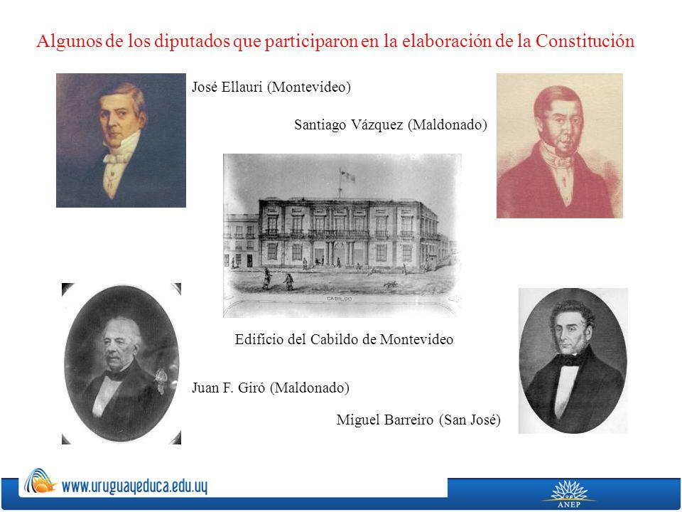 Algunos de los diputados que participaron en la elaboración de la Constitución