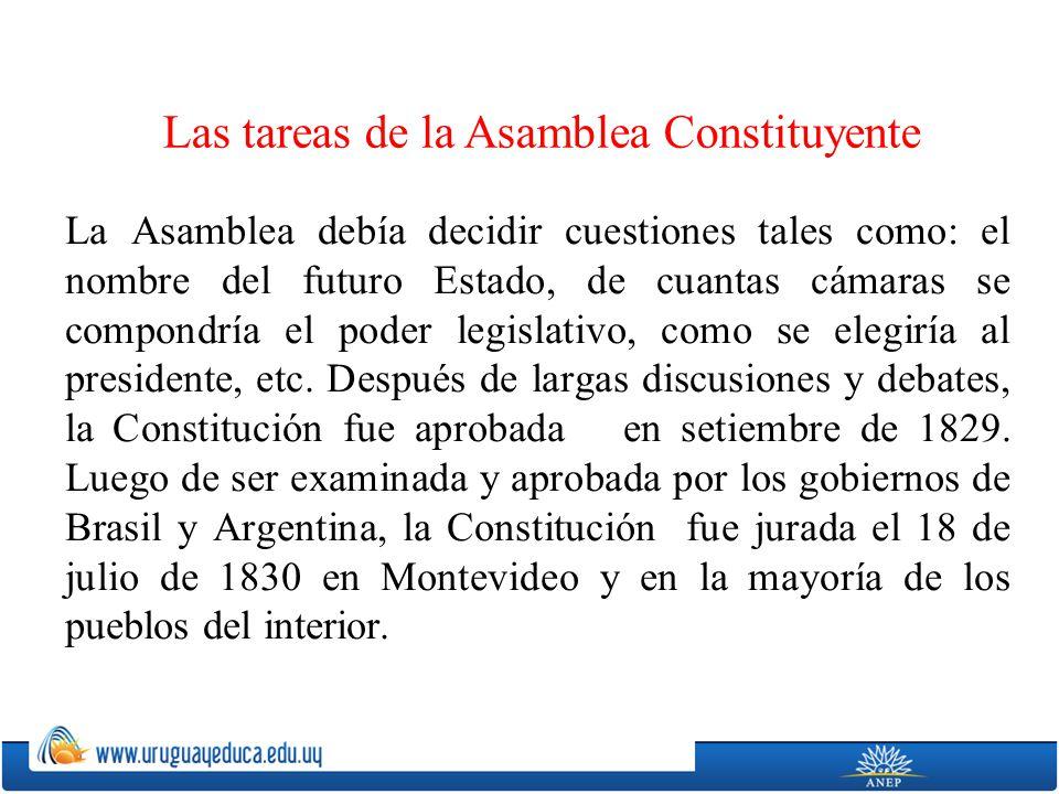 Las tareas de la Asamblea Constituyente