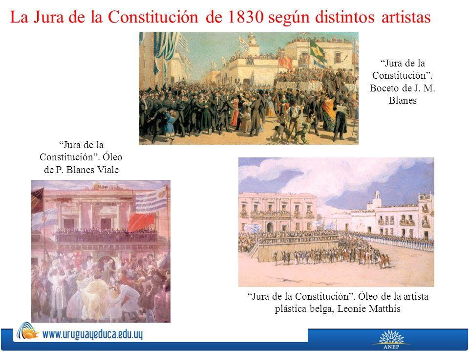 La Jura de la Constitución de 1830 según distintos artistas