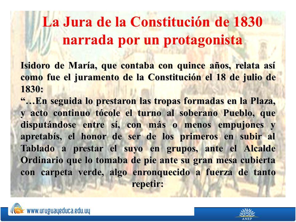 La Jura de la Constitución de 1830 narrada por un protagonista