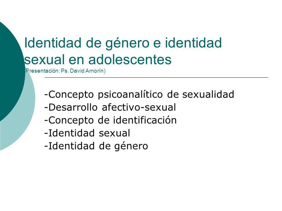 Identidad de género e identidad sexual en adolescentes (Presentación: Ps. David Amorín)