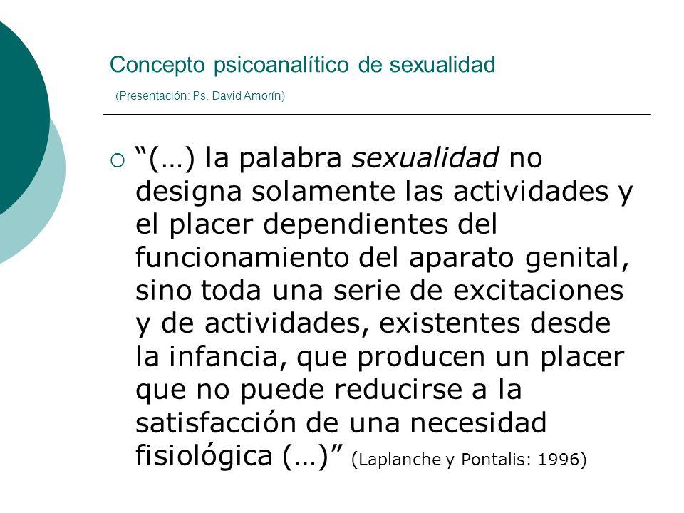 Concepto psicoanalítico de sexualidad (Presentación: Ps. David Amorín)