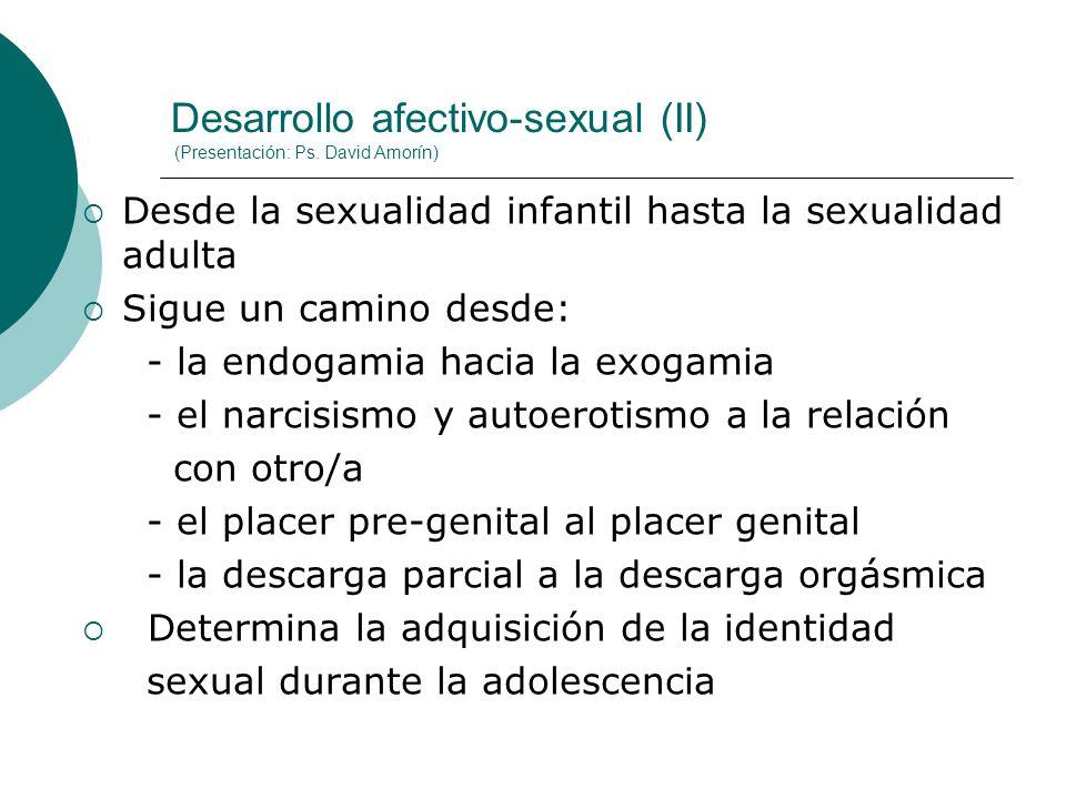 Desarrollo afectivo-sexual (II) (Presentación: Ps. David Amorín)