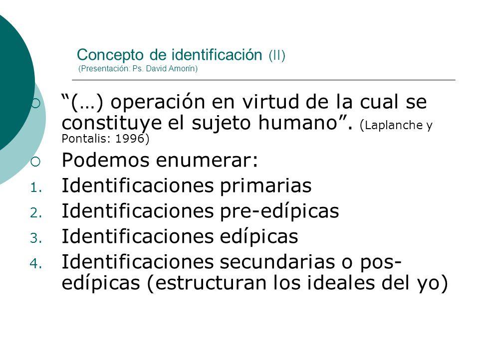 Concepto de identificación (II) (Presentación: Ps. David Amorín)