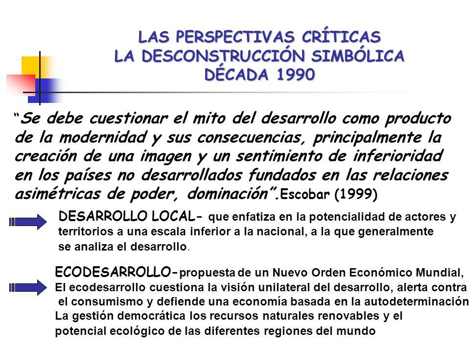 LAS PERSPECTIVAS CRÍTICAS LA DESCONSTRUCCIÓN SIMBÓLICA DÉCADA 1990