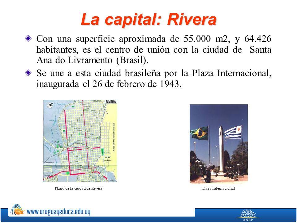 Plano de la ciudad de Rivera