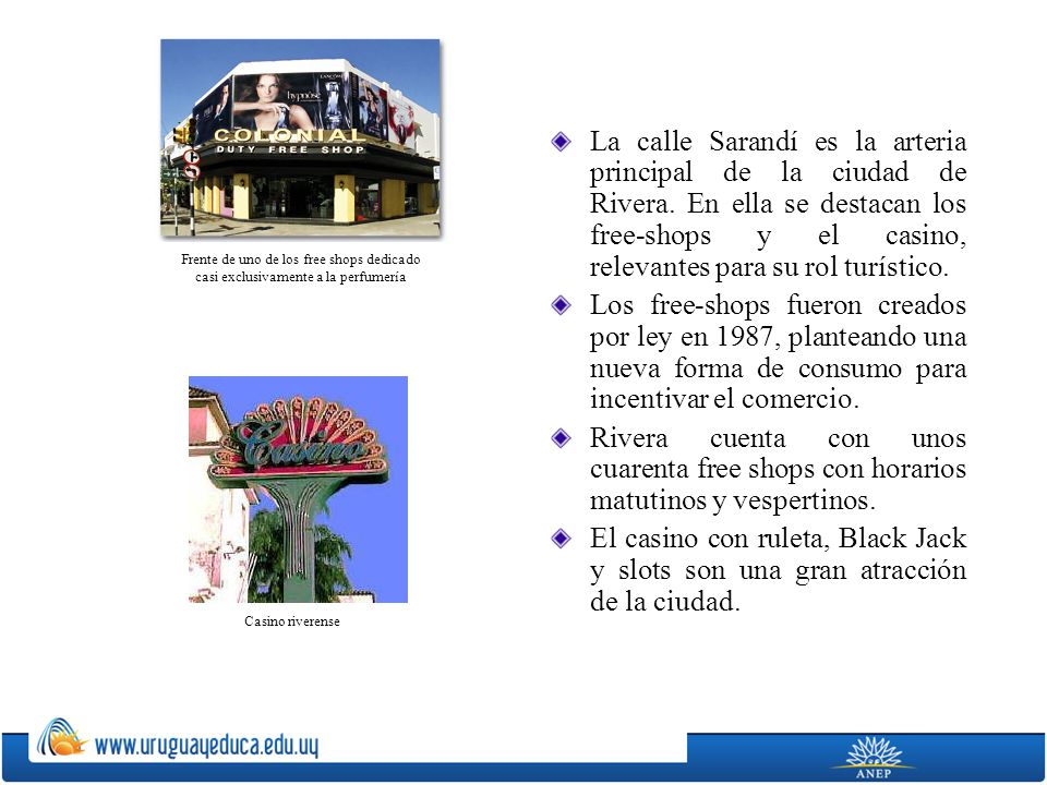 La calle Sarandí es la arteria principal de la ciudad de Rivera