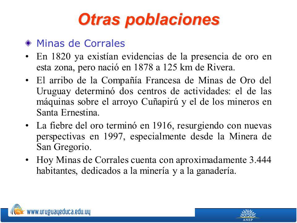 Otras poblaciones Minas de Corrales