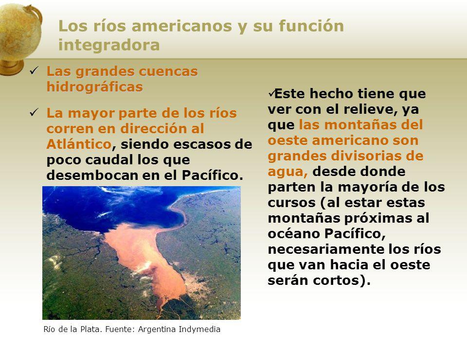 Los ríos americanos y su función integradora