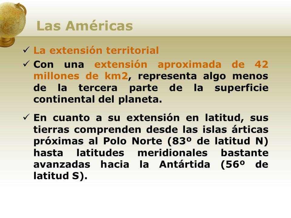 Las Américas La extensión territorial
