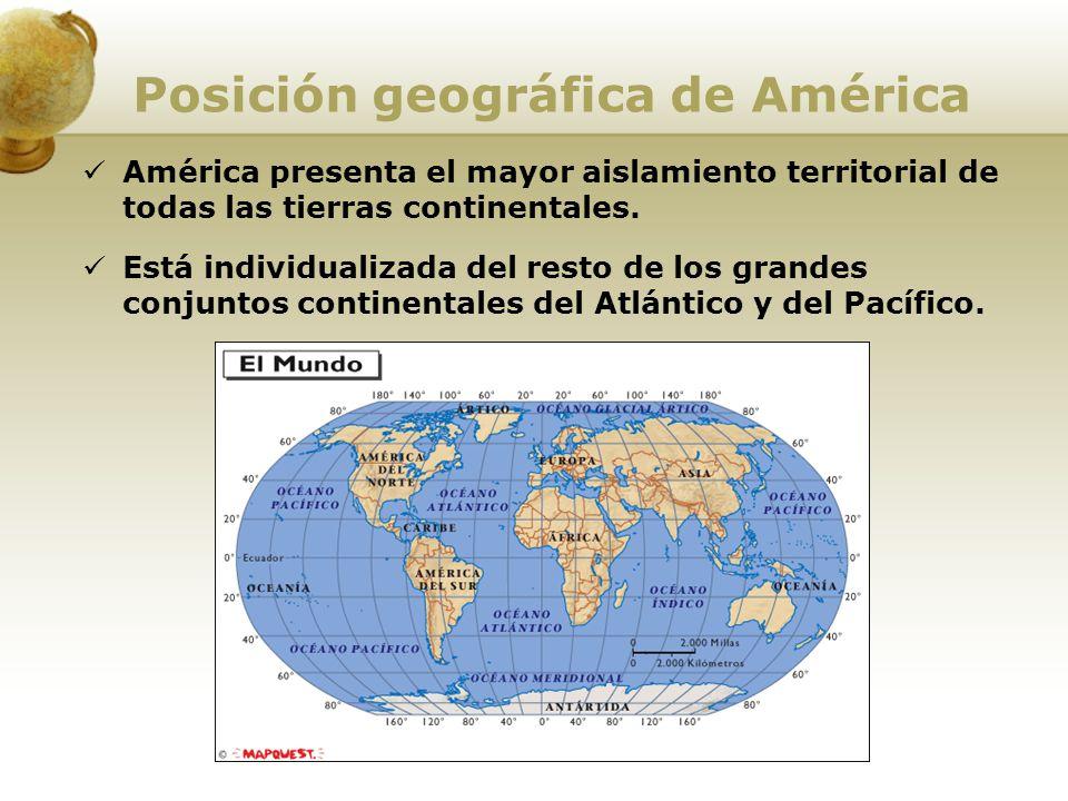 Posición geográfica de América