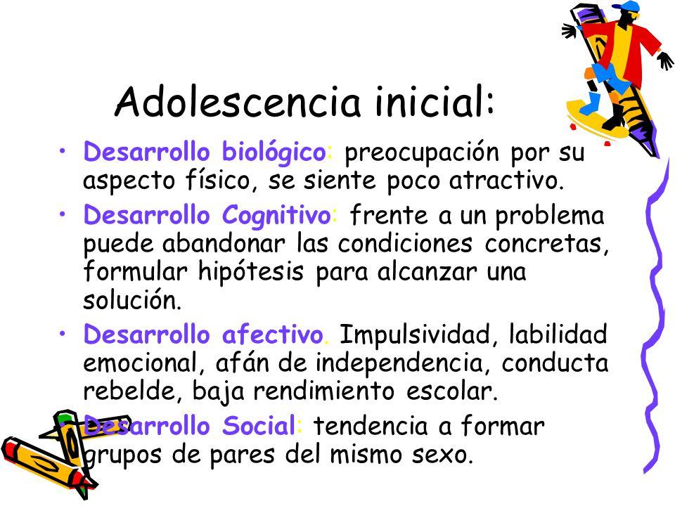 Adolescencia inicial: