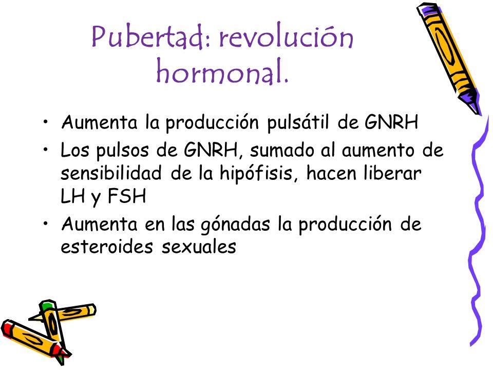 Pubertad: revolución hormonal.