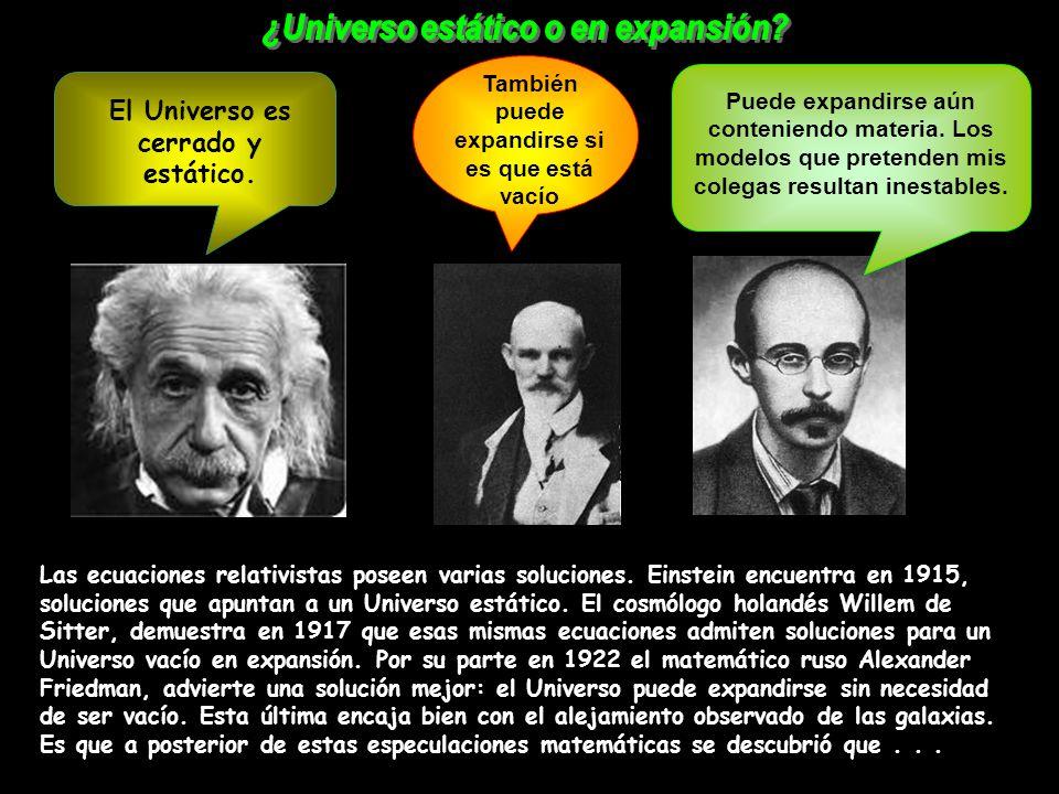 ¿Universo estático o en expansión