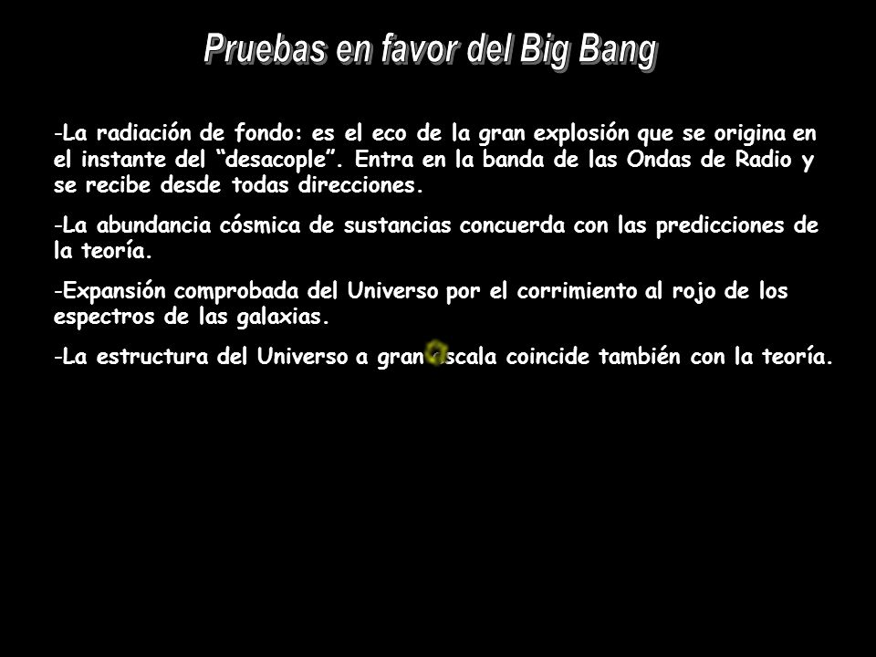 Pruebas en favor del Big Bang