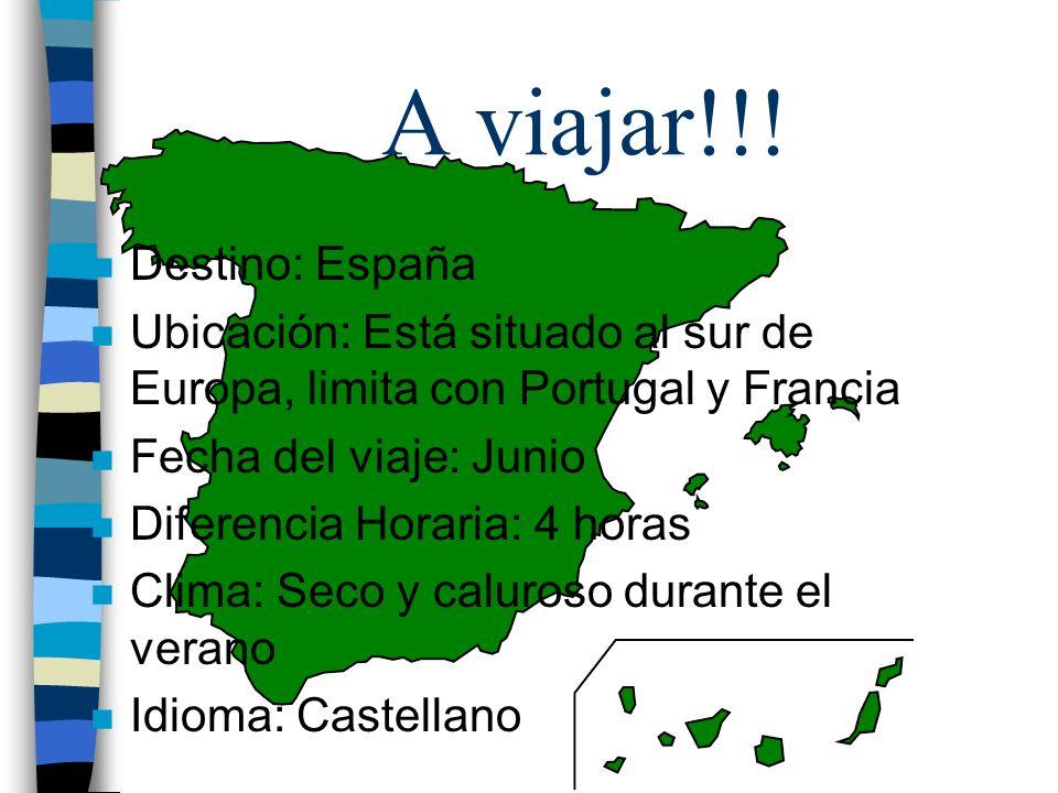 A viajar!!! Destino: España