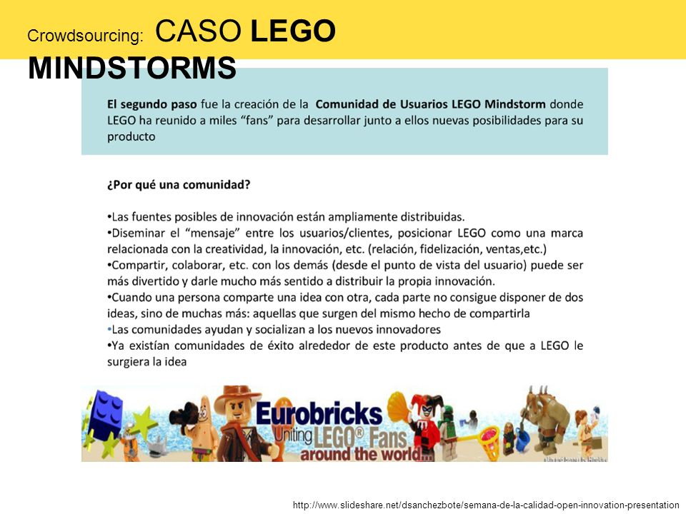 Crowdsourcing: CASO LEGO MINDSTORMS