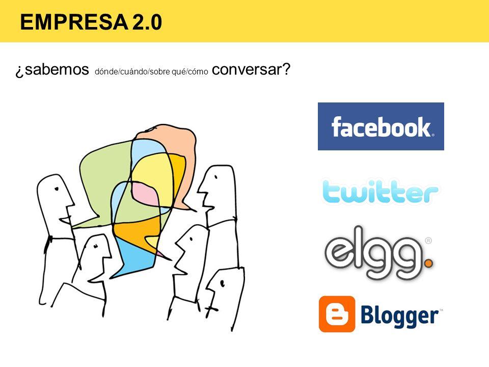 EMPRESA 2.0 ¿sabemos dónde/cuándo/sobre qué/cómo conversar