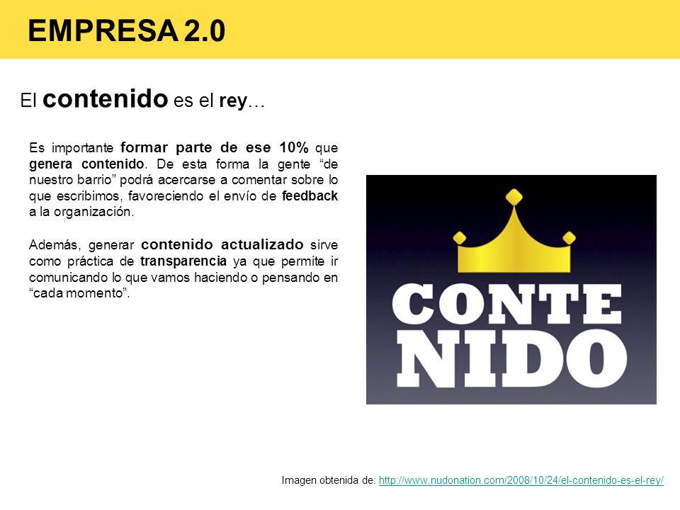 EMPRESA 2.0 El contenido es el rey…