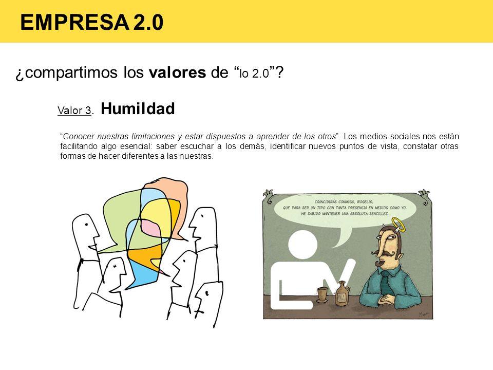 EMPRESA 2.0 ¿compartimos los valores de lo 2.0 Valor 3. Humildad