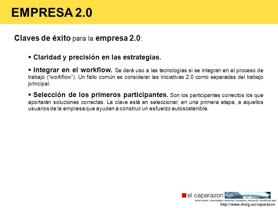 EMPRESA 2.0 Claves de éxito para la empresa 2.0: