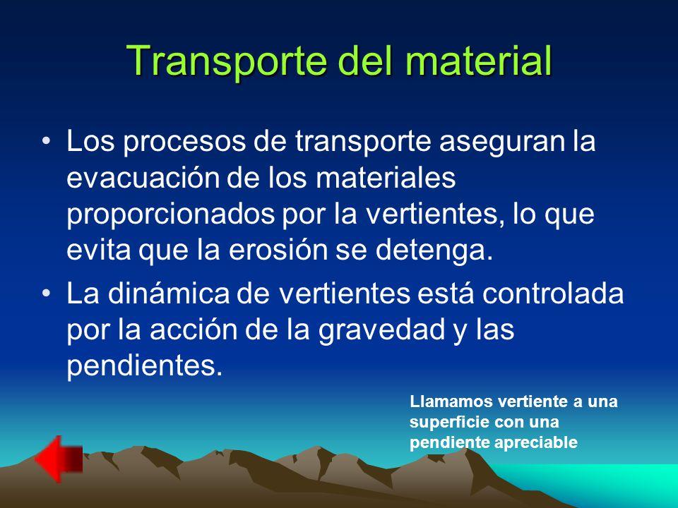 Transporte del material